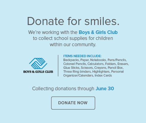 River Point Dental Group and Orthodontics - Boys & Girls Club Supply Drive